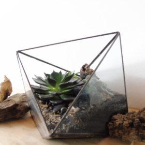 Mini matera en concreto Juliana + base (x2 unidades)