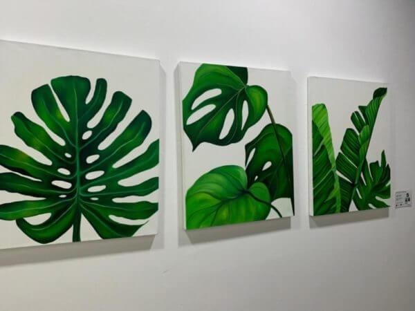 "Obra de Arte Triptico ""Agradecer , Disfrutar , Crear"""