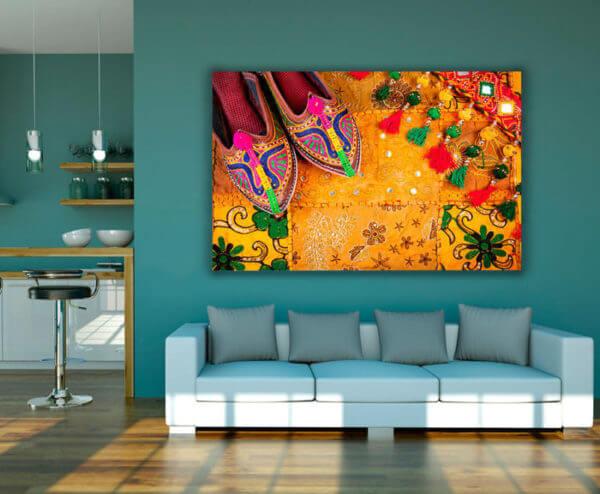 Cuadro Decorativo Zapatos Hindú 02