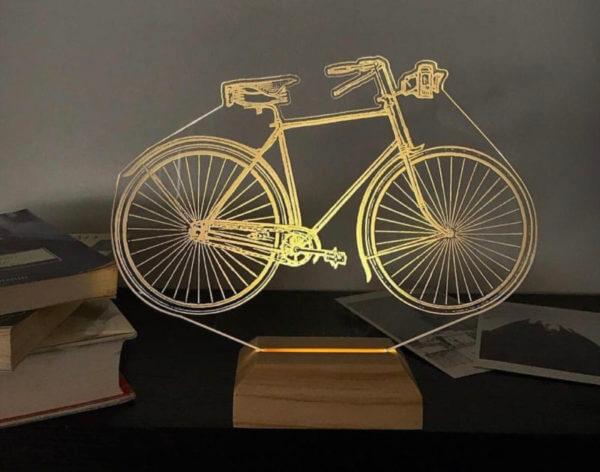 Lámpara LED Bicicleta Antigua