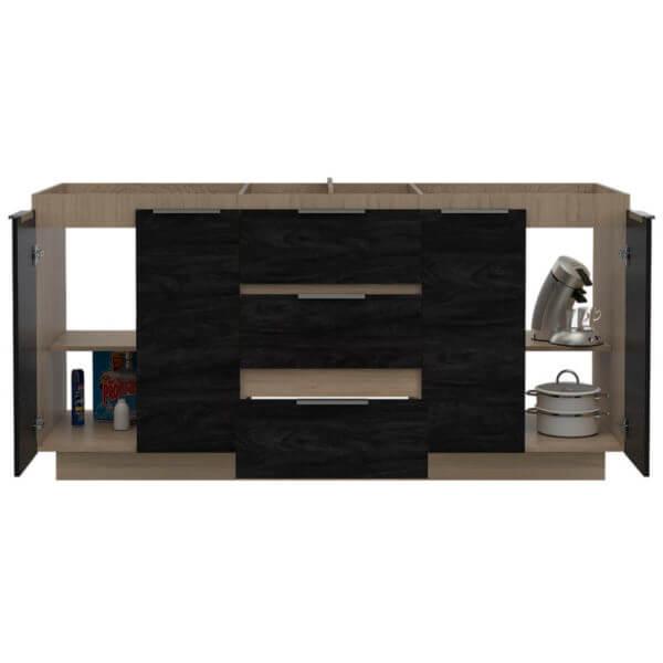 Mueble Inferior Cocina Tibet Rovere Sombra