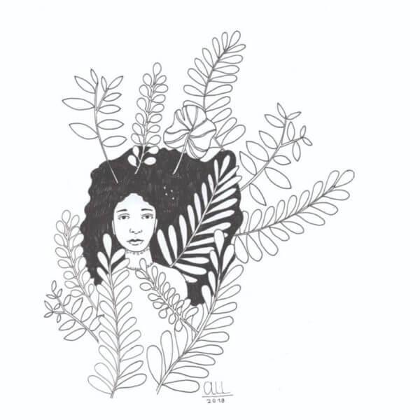 Cuadro Mujer natural 2