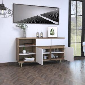 Bife Alina (salem) Miel + Blanco ambientada abierto Ebani Colombia tienda online de decoración y mobiliario RTA