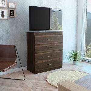 Panel o mueble para TV 60 Vassel miel plomo