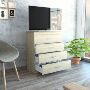 Mueble Esquinero Amber Miel plomo