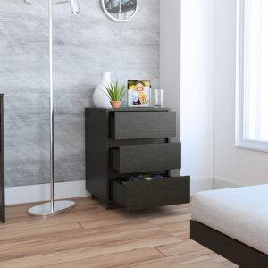 CLW3304 Cajonera Office 3 cajones_Wengue abierta Ebani Colombia tienda online de decoración y mobiliario RTA