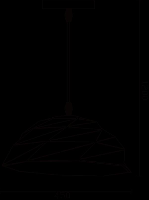 Lampara de techo colgante lladrol ebani decoracion 6