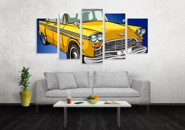 Cuadro Decorativo Taxi Comic