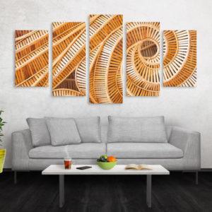 Cuadro Decorativo Tigre Colores 06