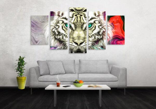 Cuadro Decorativo Tigre Colores 13