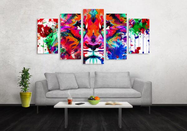 Cuadro Decorativo Tigre Colores 16