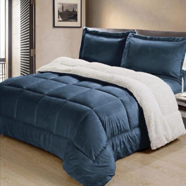 Cobija Térmica Unicolor Ovejera Azul