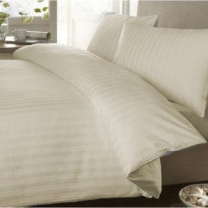 Duvet Sateen Stripe Beige ebani ropa de cama