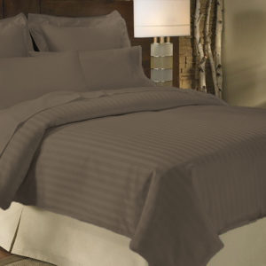 Duvet Sateen Stripe chocolate ebani ropa de cama