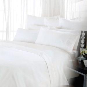 Juego de Sabanas 100% Algodón 200 Hilos Blanco ebani ropa de cama