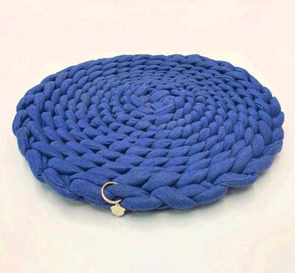 tapete para perro o gato color azul rey