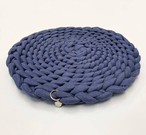 cama tapete protector para gatos y perros azul oscuro jaspe ebani decoracion