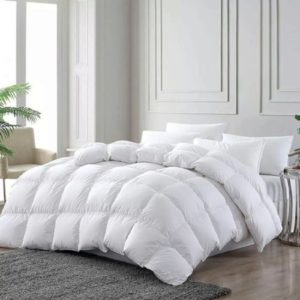 Plumón de lujo 300 Hilos 100% algodón Blanco ebani ropa de cama 2