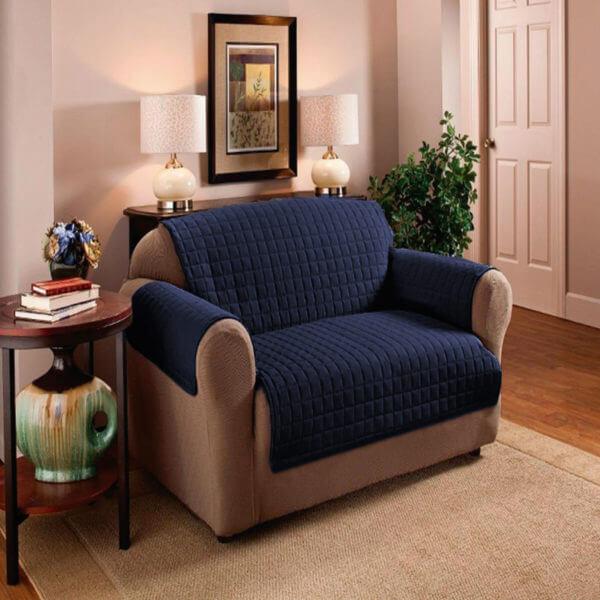 Protector de Sofá 1 2 3 puestos azul oscuro y gris ebani decoracion 1