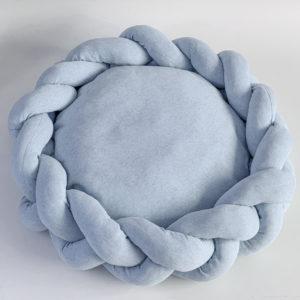 Cama para gato tipo cueva color azul navy