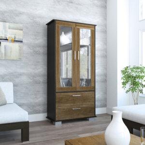 VWC3364 Vitrina classic color ambientada_wengue+caramelo Ebani Colombia tienda online de decoración y mobiliario RTA