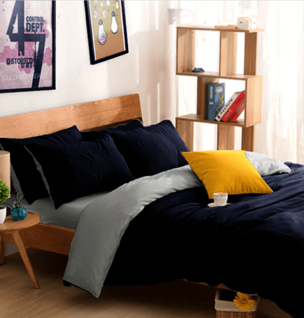 Edredon o Duvet doble faz negro y gris Ebani ropa de cama