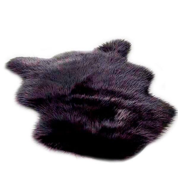 tapete oso peludo negro ebani