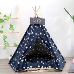 teppe para mascotas azul con estrellas 2 multicolor ebani decoracion
