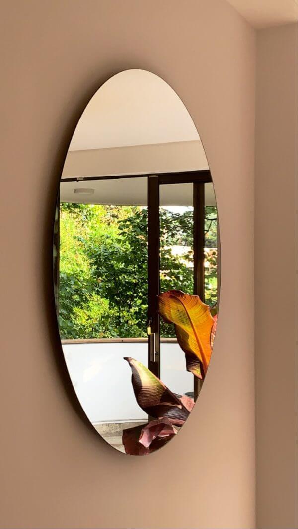 Espejo decorativo flotante redondo Selva 50 CM