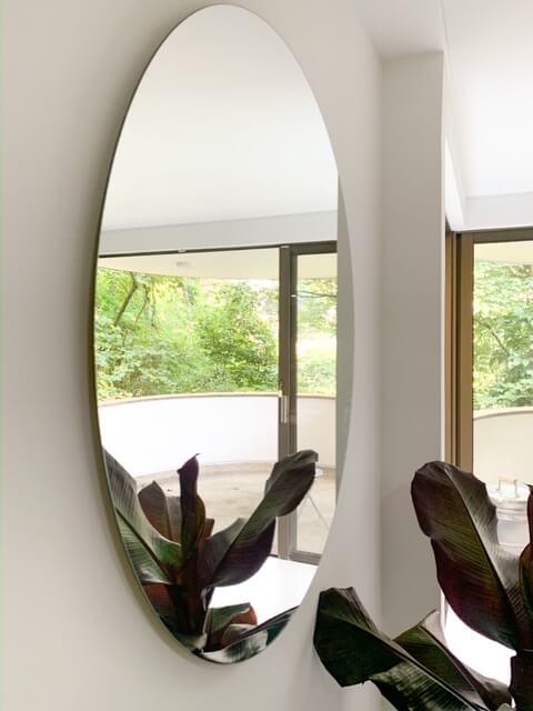 Espejo decorativo flotante redondo Selva 80 CM