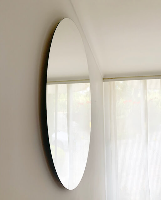 Espejo decorativo flotante redondo Selva  90 CM