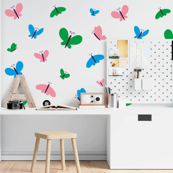 Vinilo Decorativo Mariposas Multicolores