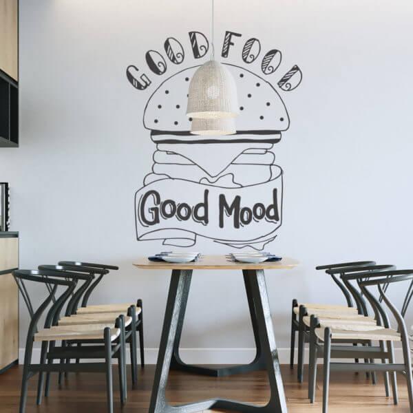 Vinilo Decorativo de texto para Cocinas Good Food