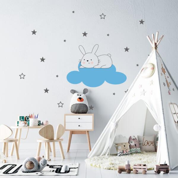 Vinilo Decorativo Infantil de Conejo