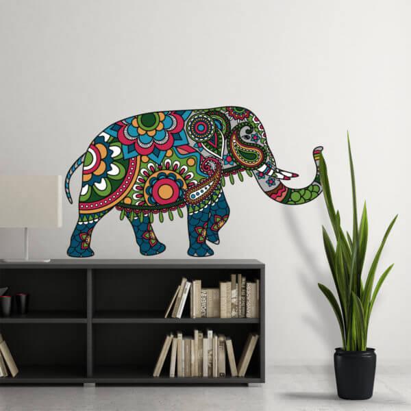 Vinilo decorativo Mandala Elefante