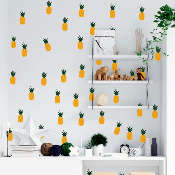 Stickers de pared en vinilo de Piñas