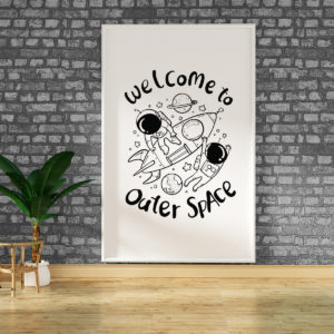 "Vinilo Decorativo de Texto ""Welcome"""