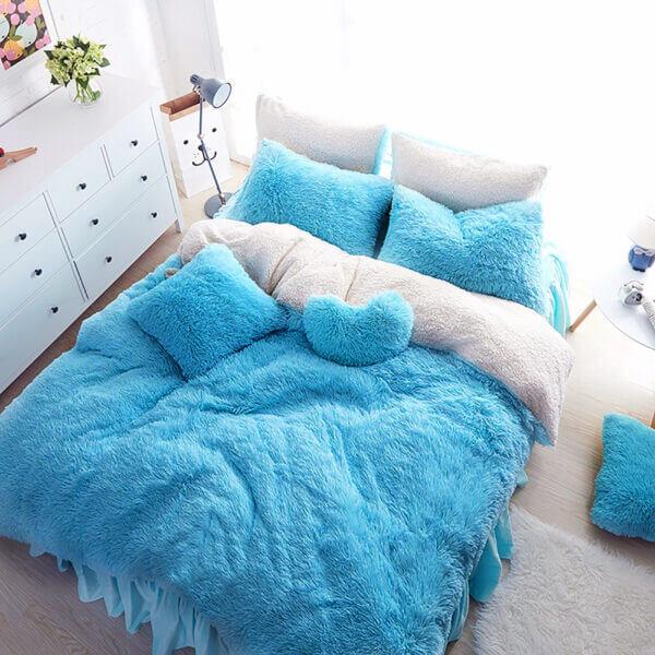 Duvet Felpa Plus Ovejero Azul