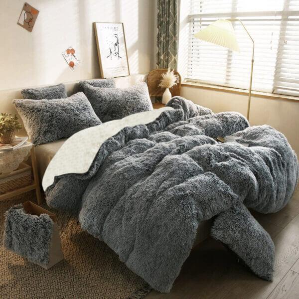 Duvet Felpa Plus Ovejero gris
