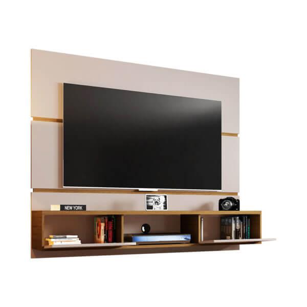 Mueble para TV tipo Panel ámbar