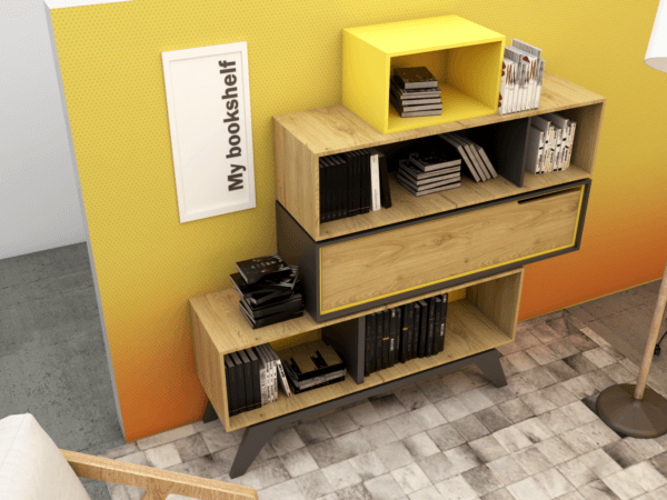 Biblioteca o repisa Fusione
