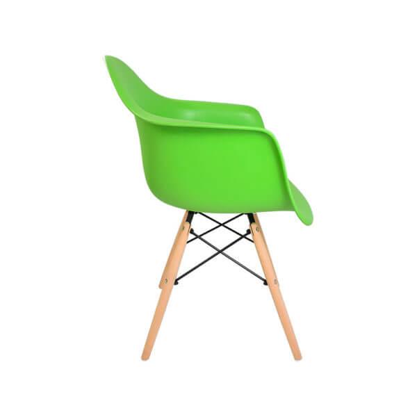 Silla Auxiliar Eames Reposabrazos Verde
