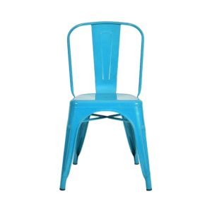 Silla Auxiliar Tolix Metálica Brillante Azul