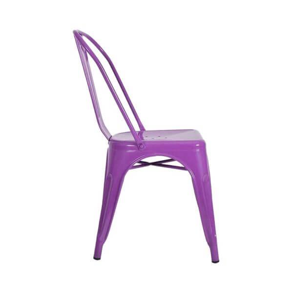 Silla Auxiliar Tolix Metálica Brillante Púrpura