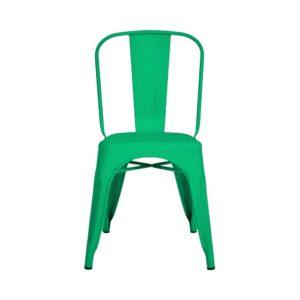 Silla Auxiliar Tolix Metálica Brillante Verde