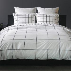 Duvet + Plumón + Fundas blanco de puntos grandes color negro
