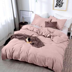 Duvet térmico en piel de durazno gris de coronas rosadas