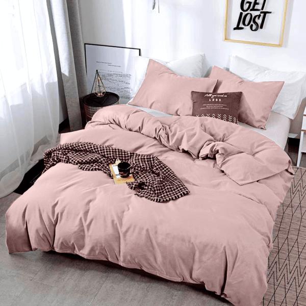Duvet unicolor palo de rosa