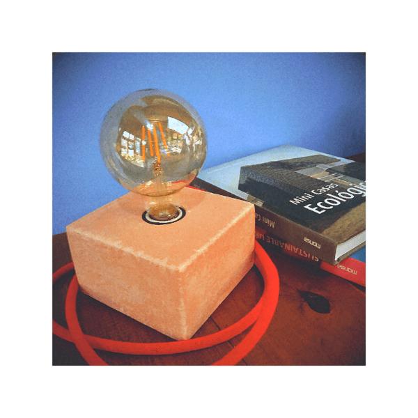 Lámpara de mesa o escritorio Merak color salmón