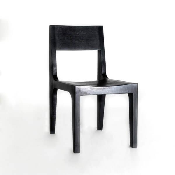 Silla de Comedor Tiiza Negra ebani tienda online de decoracion y mobiliario